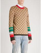 Gucci Logo-intarsia wool jumper
