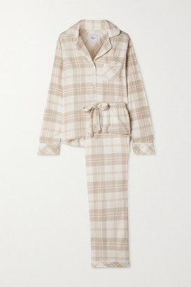 Rails Clara Checked Flannel Pajama Set - Ivory