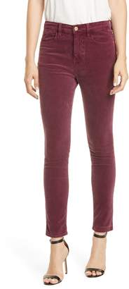 Frame Le High Waist Corduroy Skinny Pants