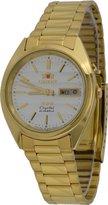 Orient #FEM0401HC Men's Gold Tone Tri Star Gold Dial Automatic Watch