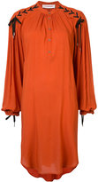A.F.Vandevorst lace up sleeve smock dress - women - Viscose - M
