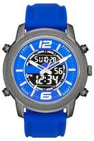 Mossimo Men's Black® Rubber Strap Analog/Digital Watch - Blue/Gun