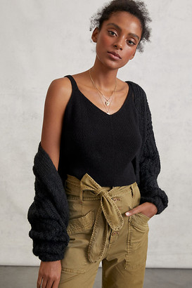 Anthropologie Cicely Cropped Cashmere Tan By in Black Size XS