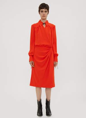 Altuzarra Kat Drape Dress in Orange