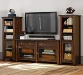 Pottery Barn Benchwright Media Suite with Towers, Rustic Mahogany