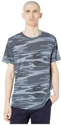 Alternative Eco Shirttail Tee (Blue Camo) Men's Clothing