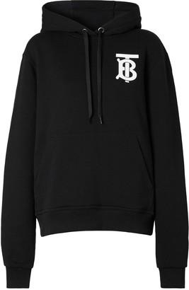 Burberry Tb Logo Cotton Jersey Sweatshirt Hoodie