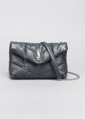 Saint Laurent LouLou Toy Puffer Quilted Matte Leather Crossbody Bag