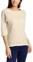 Esprit Women's 3/4 Sleeves Sweatshirt - Off-White -