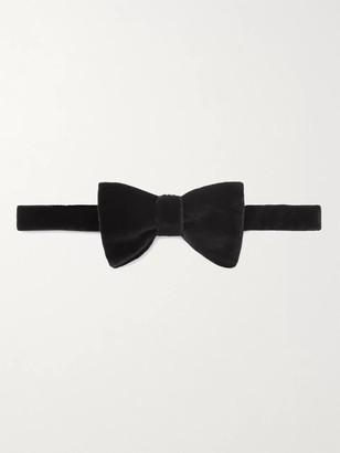 Favourbrook Pre-Tied Cotton-Velvet Bow Tie - Men - Black
