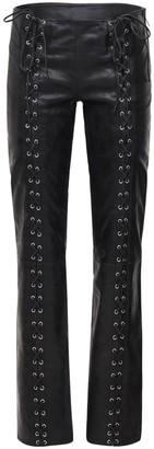 Saks Potts Christina Leather Lace-Up Pants