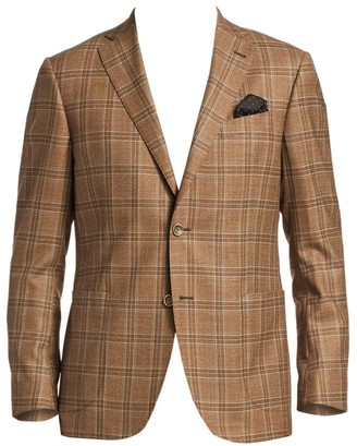Saks Fifth Avenue COLLECTION Plaid Wool Sportcoat