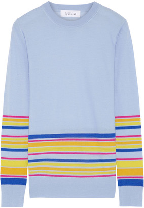 Derek Lam 10 Crosby Striped Wool, Silk And Cashmere-blend Sweater