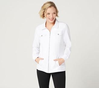 Denim & Co. Comfy Knit Denim Zip-Front Jean Jacket