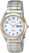 Seiko Men's SNE062 Two-Tone Solar Dial Watch