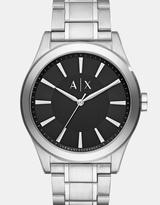 Armani Exchange Nico Silver-Tone Analogue Watch
