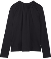 Marni Open-back Cotton-jersey Top - Midnight blue