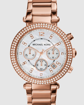 Michael Kors Parker Rose Gold-Tone Chronograph Watch