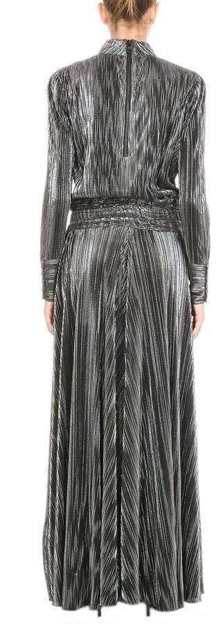 Pierre Balmain Long Pleated Dress