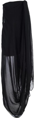 Jacquemus Strapless Asymmetric Drape Dress
