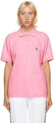 Burberry Pink Deer Print Polo