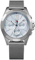 Tommy Hilfiger Women Gunmetal Stainless Steel Mesh Bracelet Watch 40mm