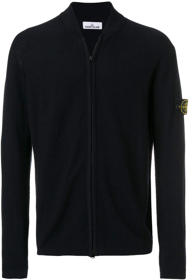 Stone Island zipped front knitted jumper