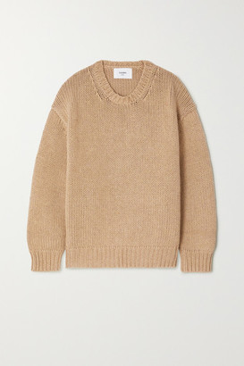 Bassike Cotton And Merino Wool-blend Sweater - Tan