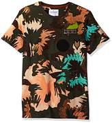 GUESS Men's Floral Camo Print T-Shirt