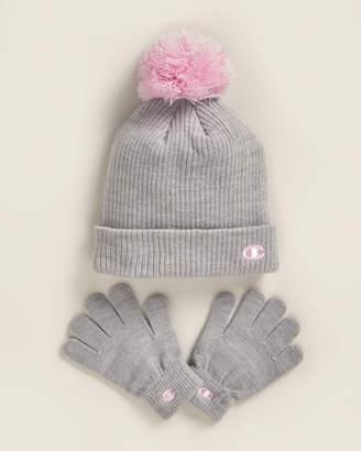 Champion Girls 7-16) 2-Piece Beanie & Gloves Set
