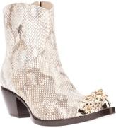 Giancarlo Paoli python skin cuban heel boot