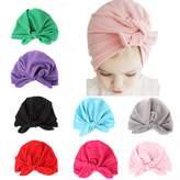 ALoveSoul 8 Pcs Newborn Baby Rabbit Ear Infant Knot Headband Toddler Soft Cute Turban Hospital Indian Hat