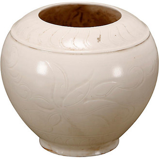 One Kings Lane Round Glaze Pot - Ivory