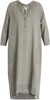 The Great The Homestead frayed-hem denim dress