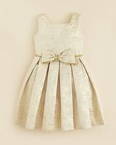 Kleinfeld Pink Girls' Morgan Rose Embossed Dress - Sizes 4-6X