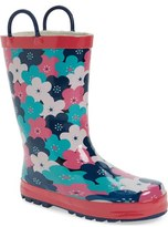 Western Chief 'Floral Cheer' Waterproof Rain Boot (Walker, Toddler, Little Kid & Big Kid)