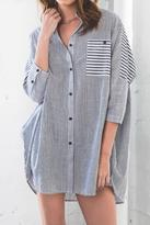 Hayden Oversized Button-Up Top
