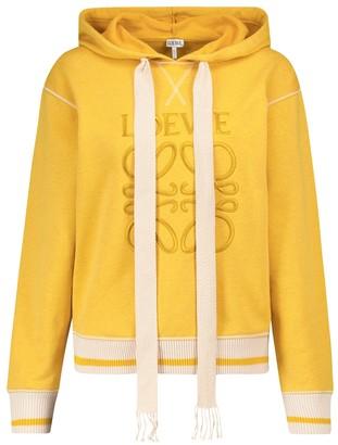 Loewe Anagram cotton jersey hoodie