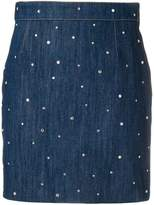 Miu Miu embellished denim mini skirt