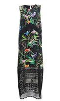 N°21 N° 21 Black Exotic Print Dress