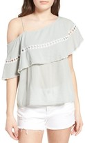 Sun & Shadow Women's One-Shoulder Ruffle Top
