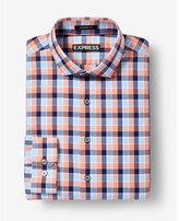 Express Modern Fit Plaid Dress Shirt