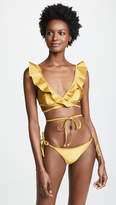Zimmermann Jaya V Plunge Flounce Bikini