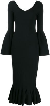 Stella McCartney Flutted Sleeve Midi Dress