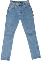 Vetements High-Rise Straight-Leg Jeans w/ Tags