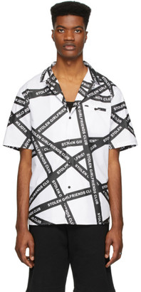 Stolen Girlfriends Club White Duct Tape Hawaiian Shirt