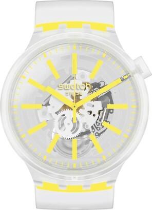 Swatch Big Bold Quartz Silicone Strap Transparent 25 Casual Watch (Model: SO27E100)