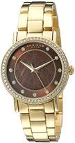Akribos XXIV Women's AK880YGBR Round Brown Dial Three Hand Quartz Bracelet Watch