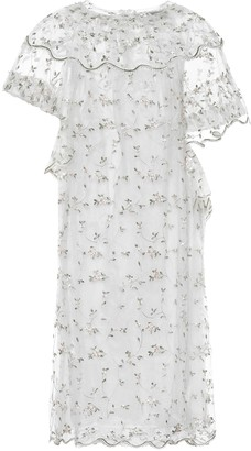 Simone Rocha Floral tulle dress