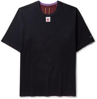 Champion + Craig Green Appliqued Printed Colour-Block Cotton-Jersey T-Shirt